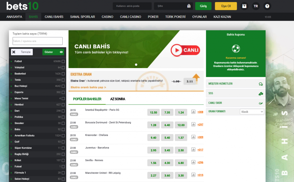 Best10 Casino - Bets10 Bahis - Best10 Giriş 2021